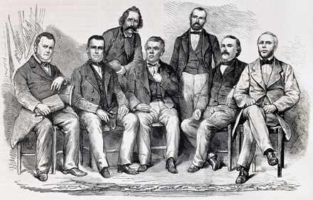 Sketch of Seven Men